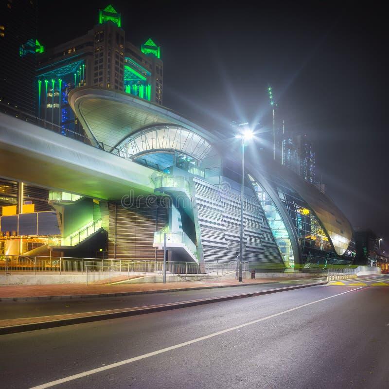 Download Metro Station In Financial District Dubai, UAE Stock Image - Image of area, development: 111105595