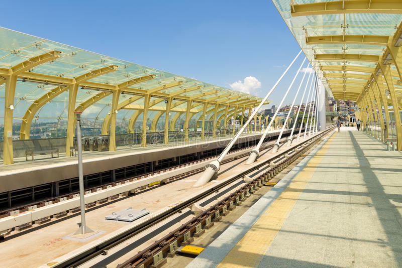 Metro Station in Istanbul royalty free stock photography