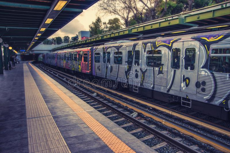 Metro station in athens - greece royalty free stock images