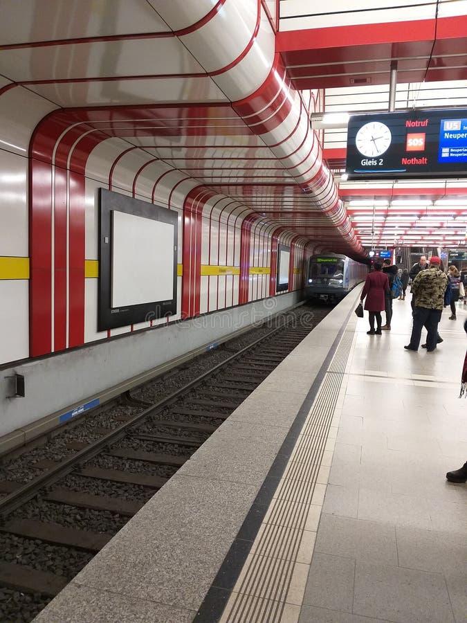 Metro Station. Ostbanhof. Munich. Germany royalty free stock photography