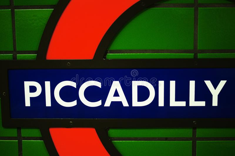 Metro station Piccadilly stock images