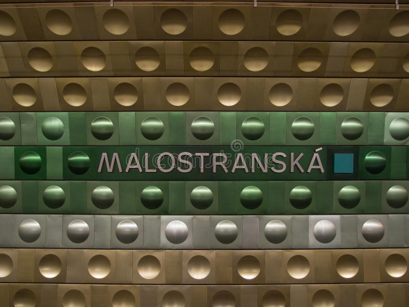 Metro station in Prague royalty free stock image