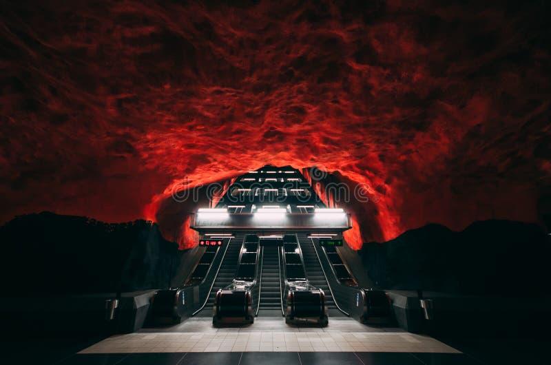 Metro-Station in Stockholm stockfotos