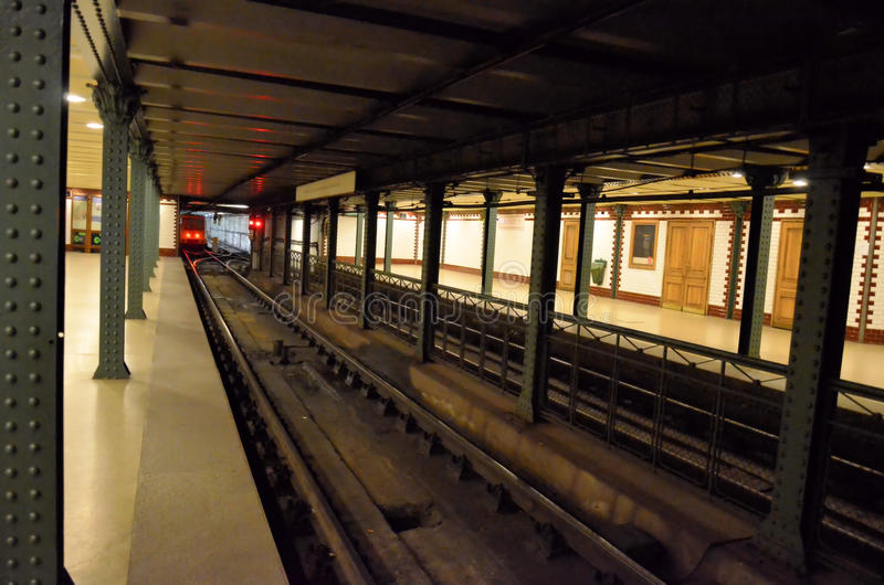 Metro station. Typical metro station in Budapest stock photography