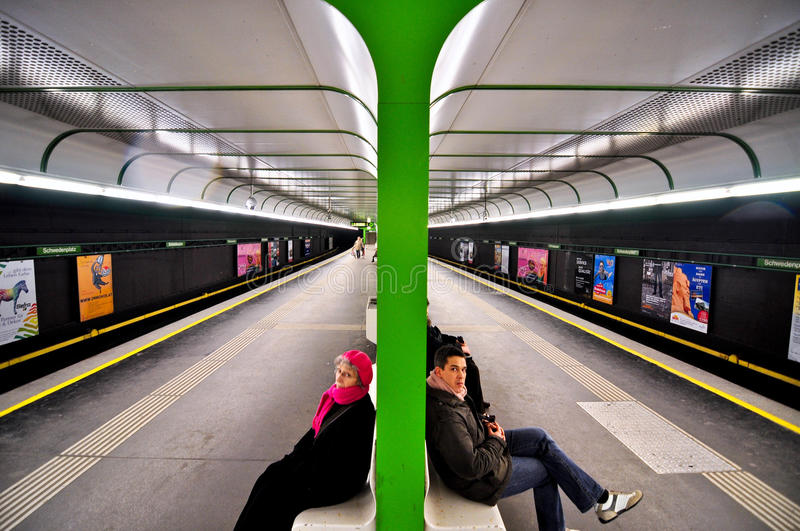 Download Metro station in Vienna editorial photography. Image of people - 22634712