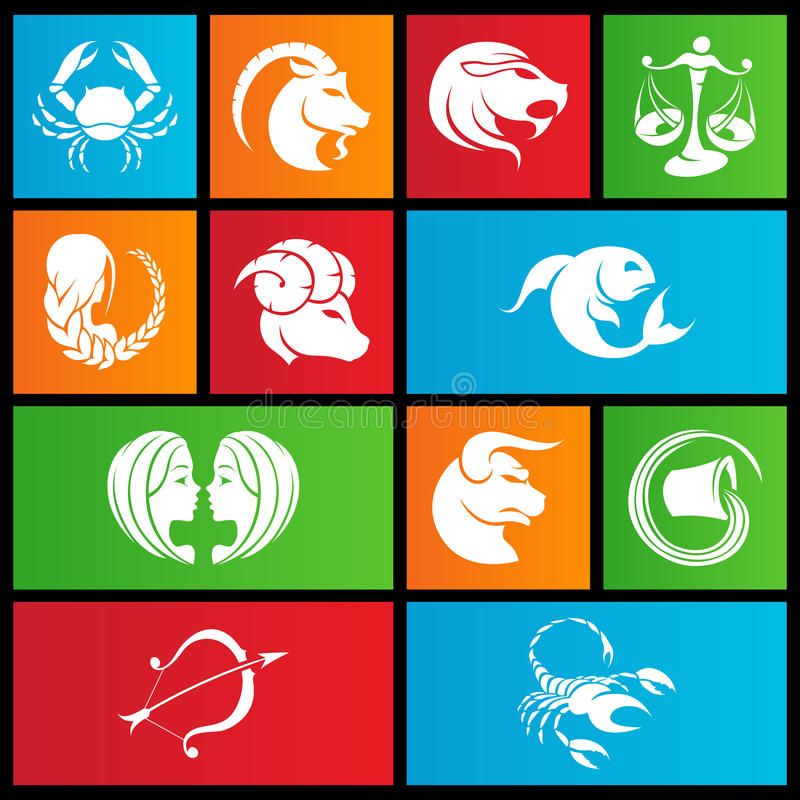 Download Metro Style Zodiac Star Signs Stock Vector - Illustration: 26177468