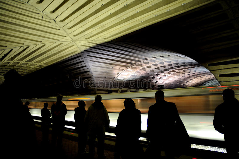 Metro (subterráneo) en Washington DC. fotos de archivo libres de regalías