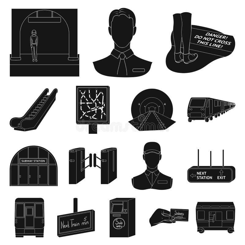 Metro Subway Black Icons In Set Collection For Designurban