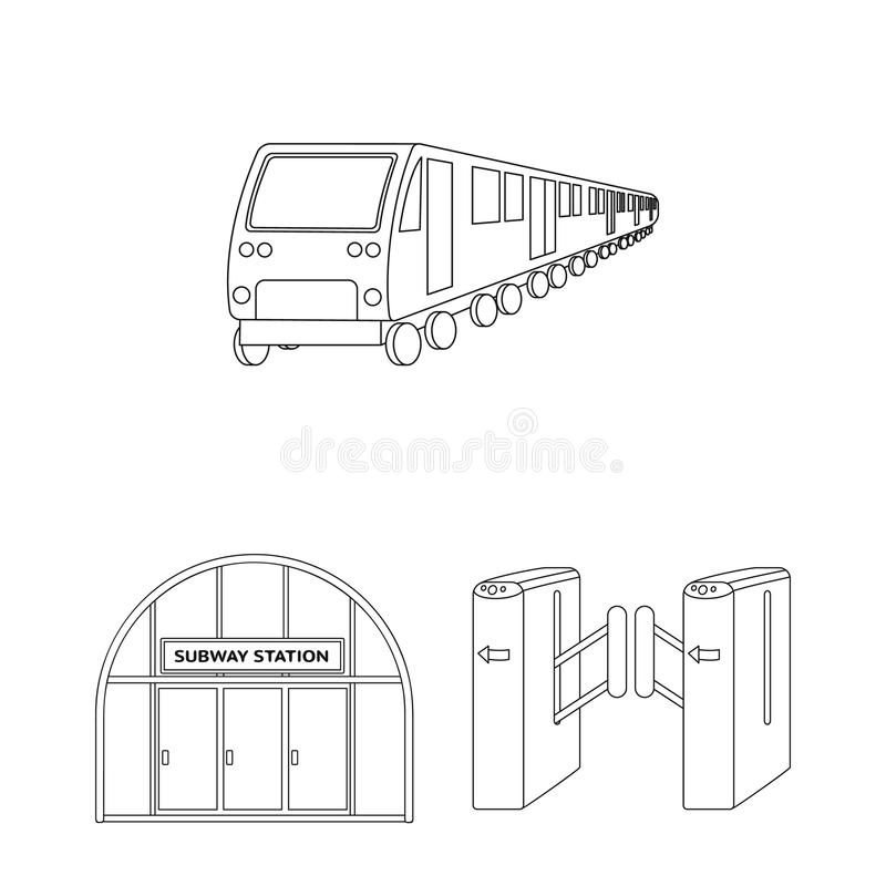Metro Subway Outline Icons In Set Collection For Designurban