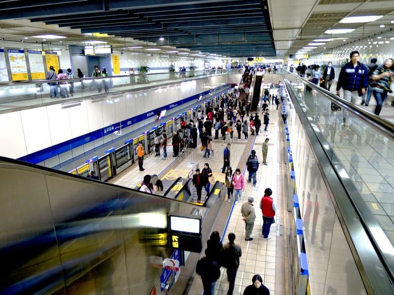 Metro system on February 6 in taipei stock image
