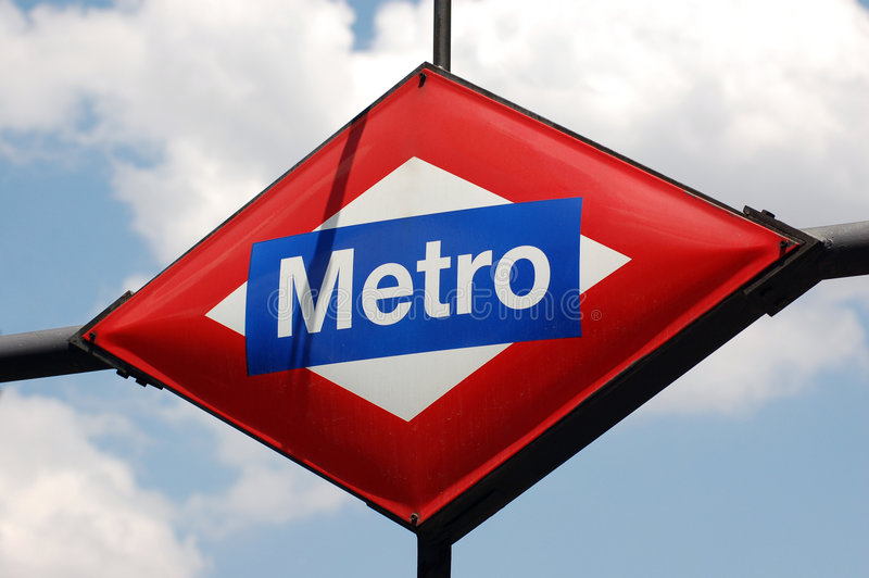 Metro teken royalty-vrije stock fotografie