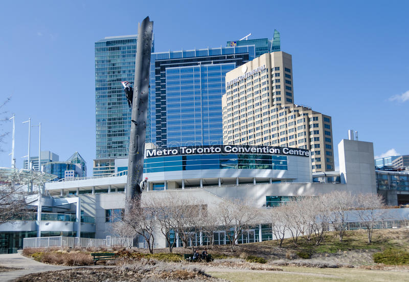 Metro Toronto Convention Centre. TORONTO,CANADA-APRIL 9,2014:Metro Toronto Convention Centre is a convention complex. The MTCC has 600,000 square feet of space royalty free stock photo