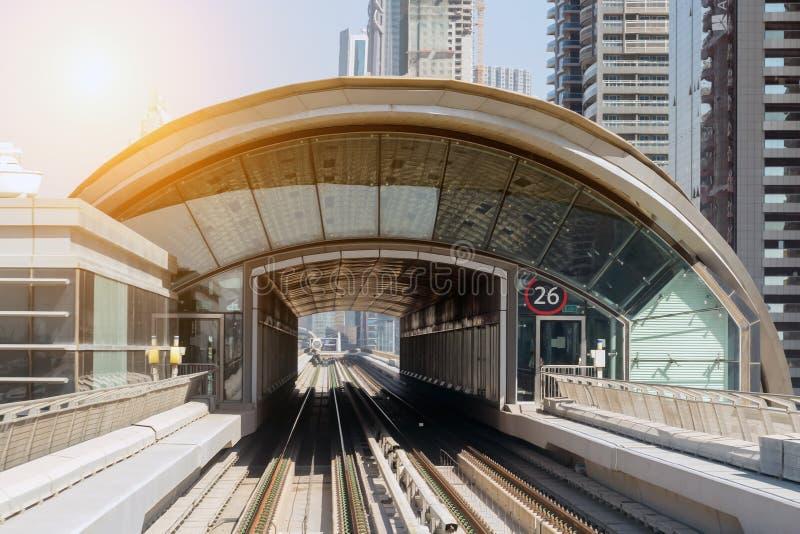 Metro train Dubai architecture stock photos