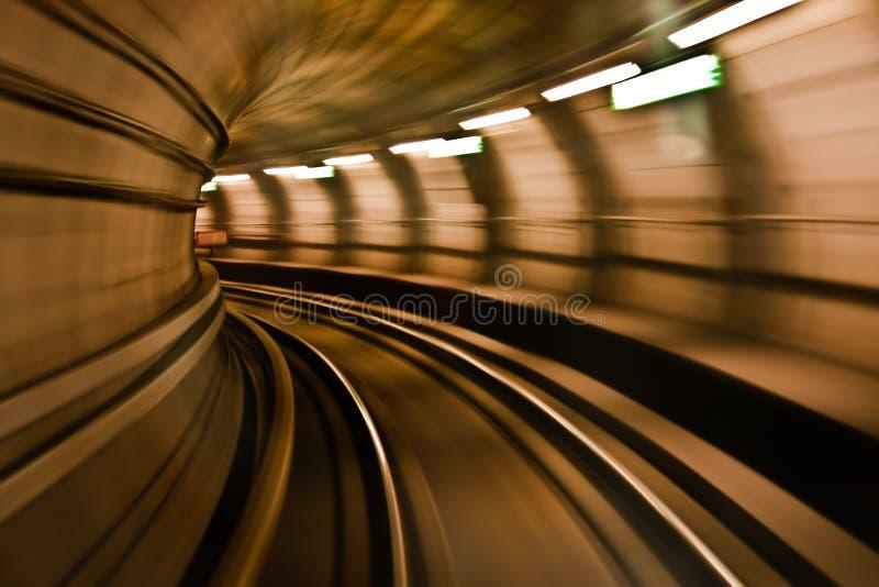 Metro train in high velocity stock photos