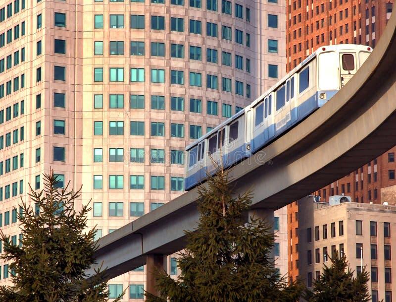 Metro Trein royalty-vrije stock afbeelding