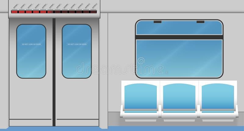 Metro treinbinnenland royalty-vrije illustratie