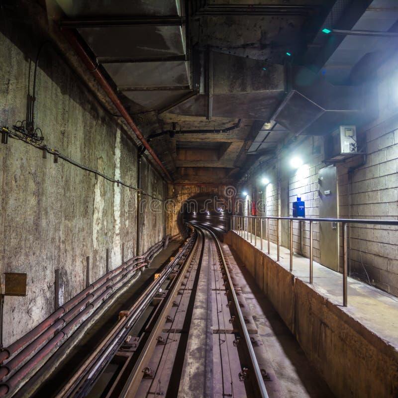 Metro tunel obraz stock