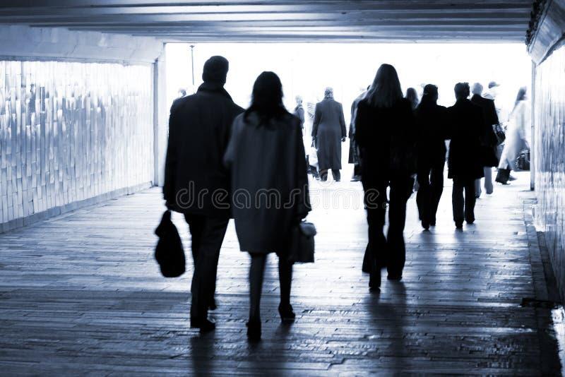 Metro. Uitgang van ondergronds royalty-vrije stock afbeeldingen