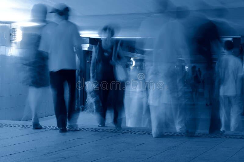 Metro. Uitgang van ondergrondse post stock afbeelding