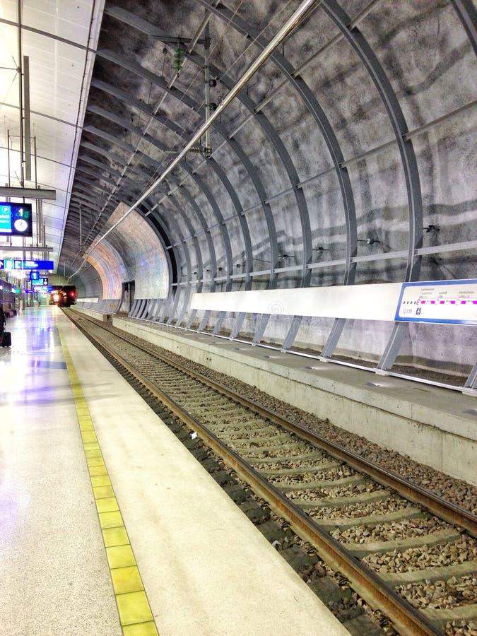 Metro. Underground station. Awaiting for train royalty free stock photo