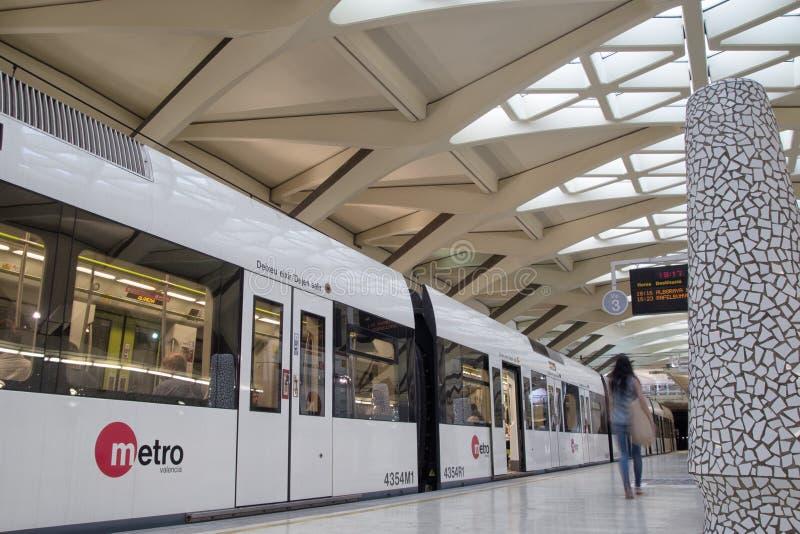 Metro Valencia lizenzfreies stockbild