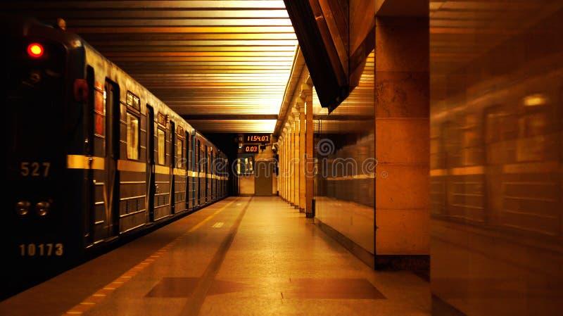 Metro van heilige Petersburg post royalty-vrije stock afbeelding