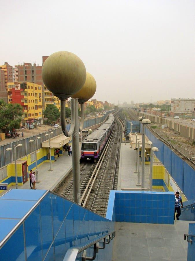 Metro van Kaïro stock afbeeldingen