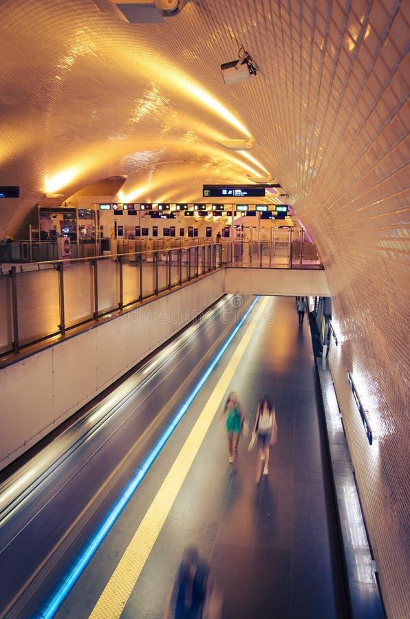 Metro van Lissabon royalty-vrije stock afbeelding