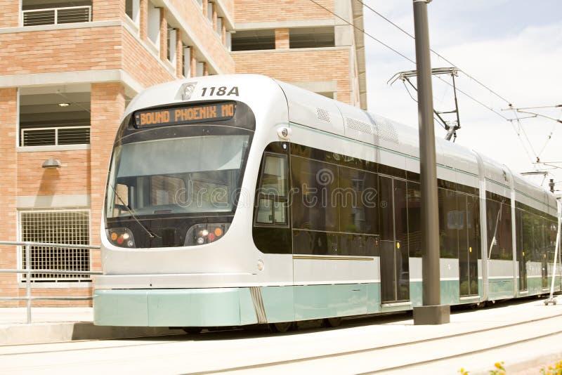 Metro van Phoenix de Lichte Trein van het Spoor stock foto