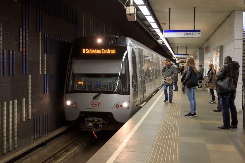 Metro van Rotterdam royalty-vrije stock foto's