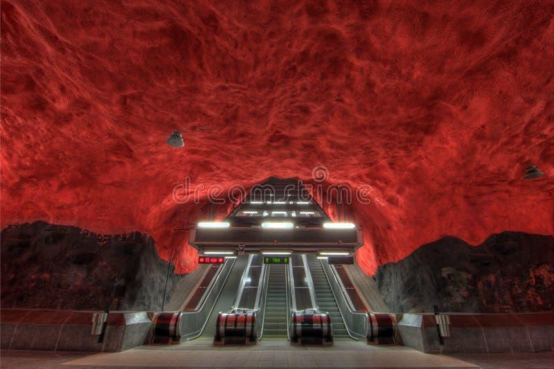 Metro van Stockholm royalty-vrije stock afbeeldingen