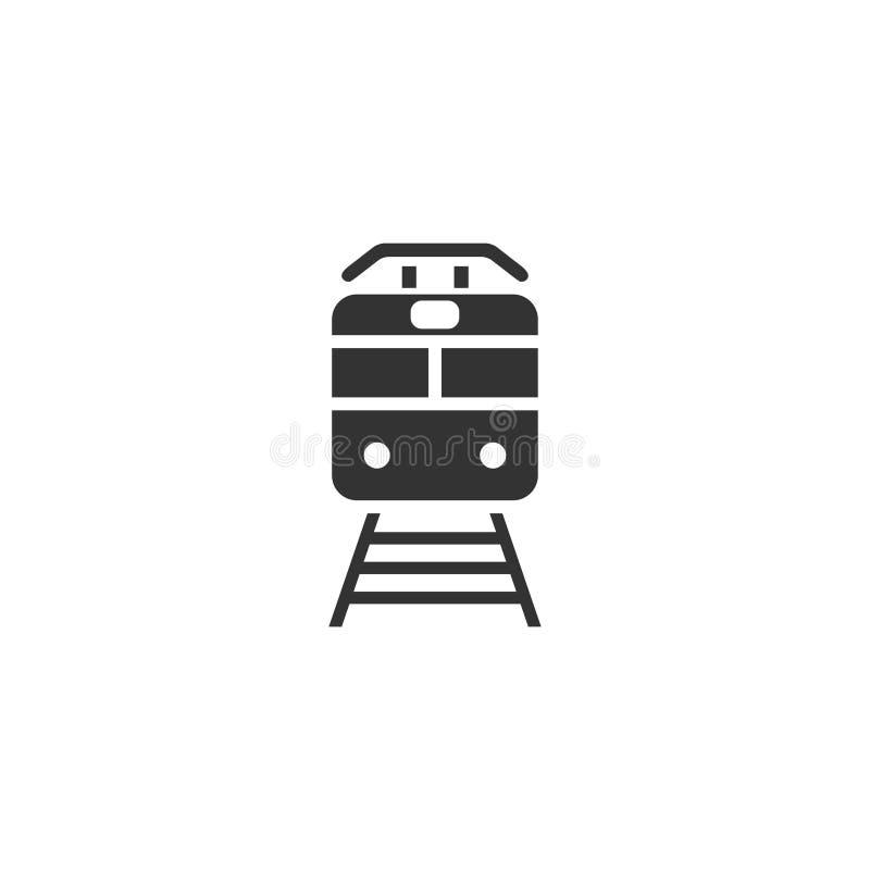 Metro vlak pictogram stock illustratie
