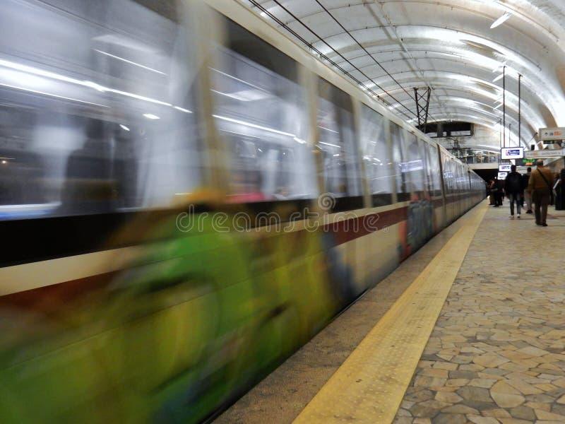 Metro w Rzym Termini obraz royalty free