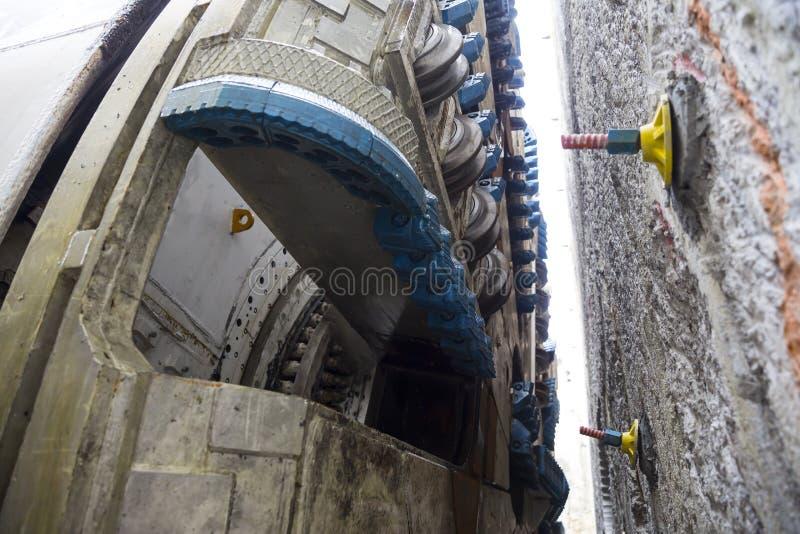 Metro wiertniczej maszyny ostrza zdjęcie stock