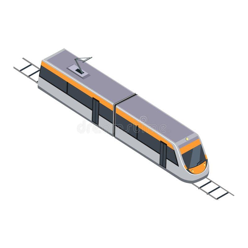 Metro Wysoki prędkości miasta dojeżdżający royalty ilustracja