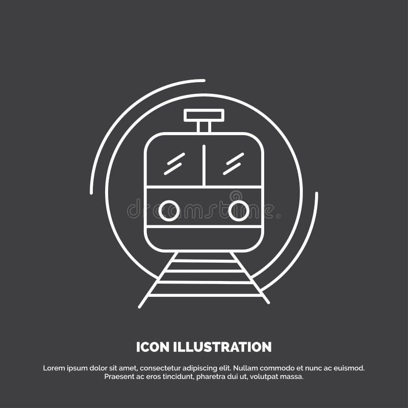 Metro, Zug, intelligent, allgemein, Transport Ikone Linie Vektorsymbol f?r UI und UX, Website oder bewegliche Anwendung stock abbildung