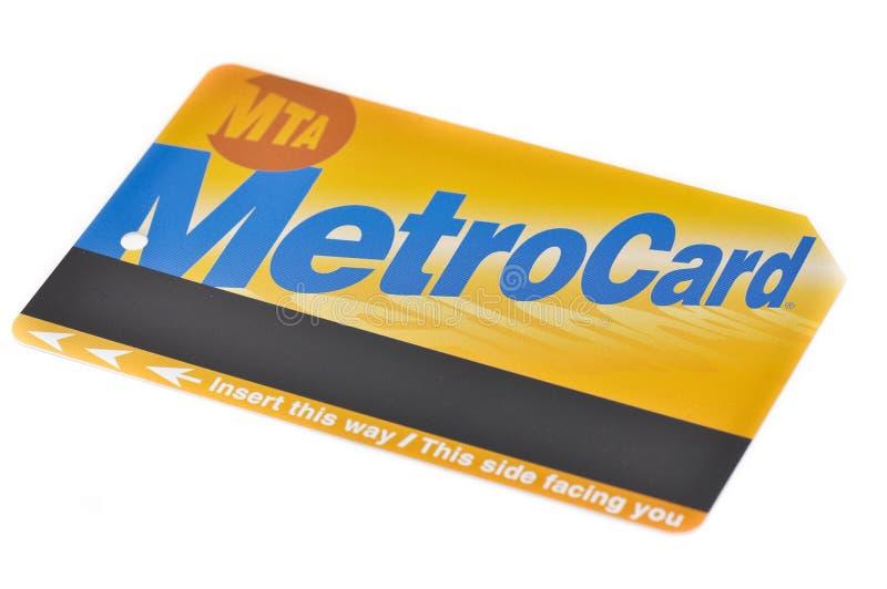 metrocard New York города стоковое фото rf