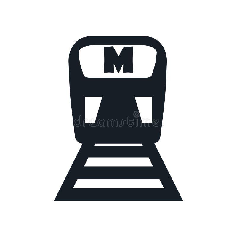 Metroikonenvektorzeichen und -symbol lokalisiert auf weißem Hintergrund, Metrologokonzept stock abbildung