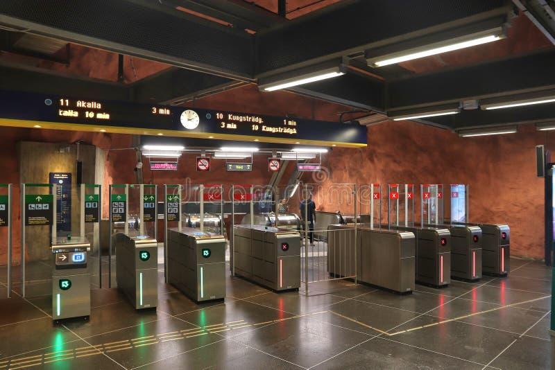 Metrokartentore lizenzfreie stockfotos