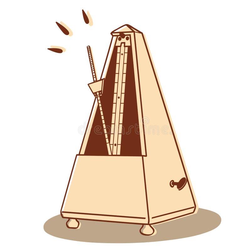 Metronome isolated stock photo
