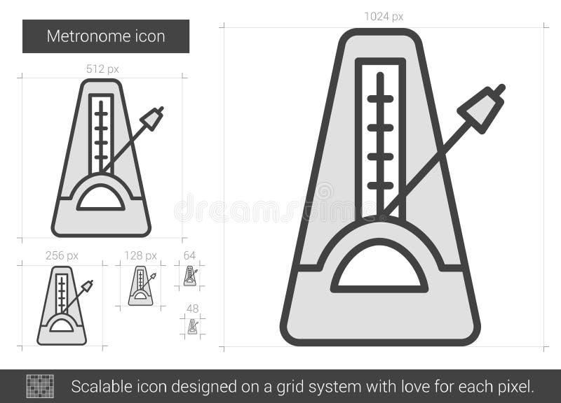 Metronomlinje symbol royaltyfri illustrationer