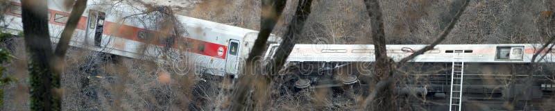 Metronordzugentgleisung im Bronx lizenzfreies stockfoto