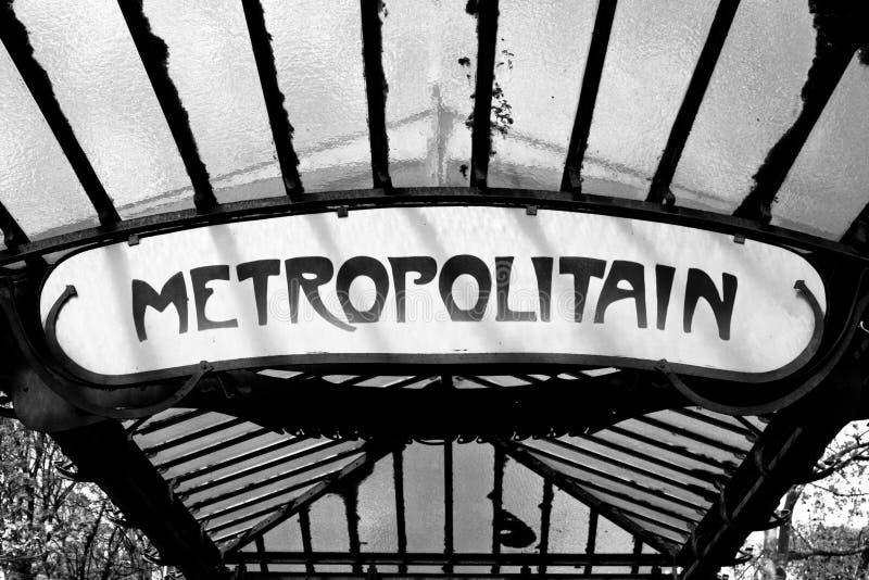 metroparis tecken royaltyfri fotografi