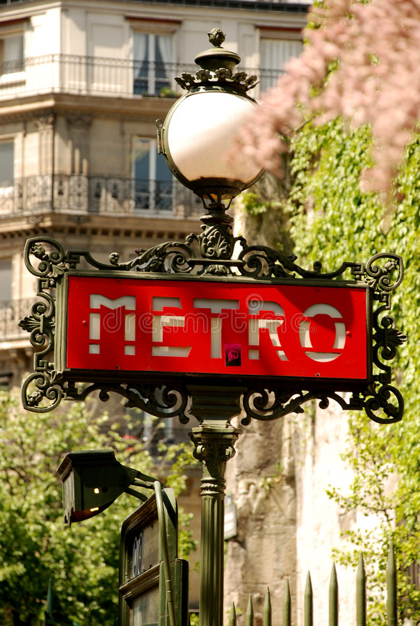 metroparis tecken royaltyfri bild