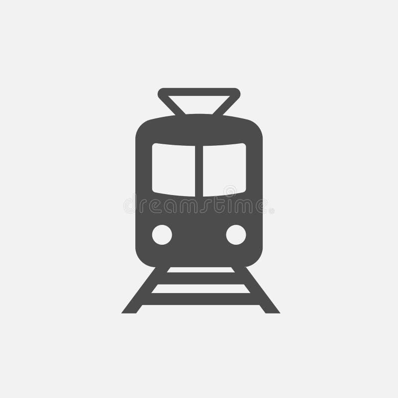 Metropictogram Metro Teken Treinsymbool Pictogram dat op witte achtergrond wordt geïsoleerdt Vector illustratie royalty-vrije illustratie