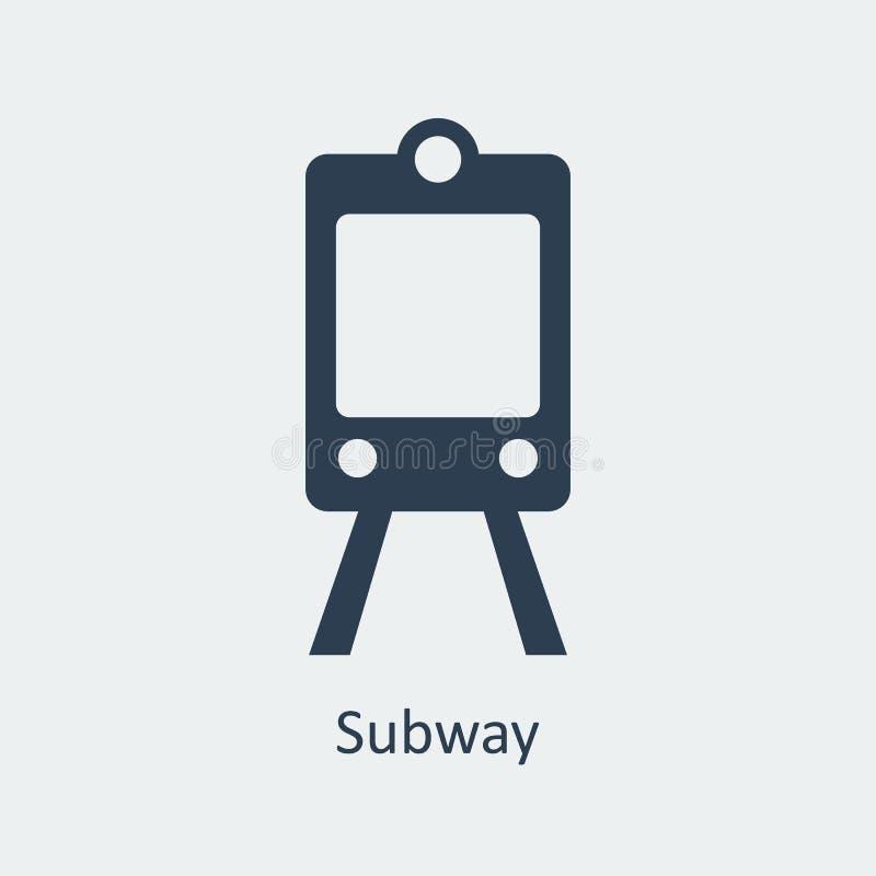 Metropictogram Silhouet Vectorpictogram vector illustratie