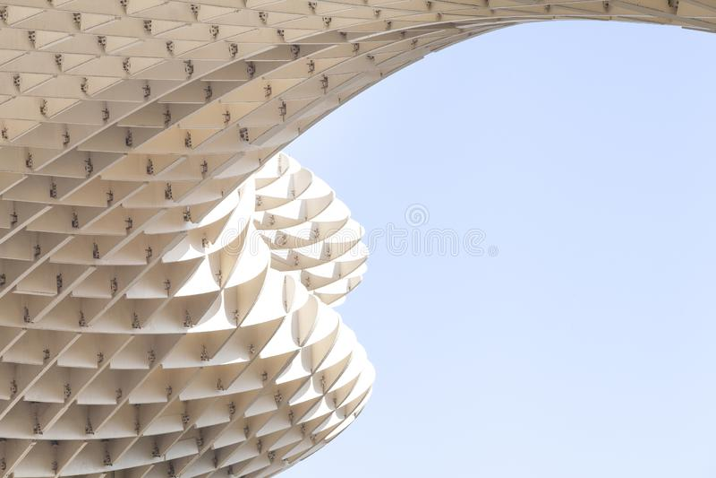 Metropol遮阳伞纪念碑在塞维利亚,西班牙 库存照片