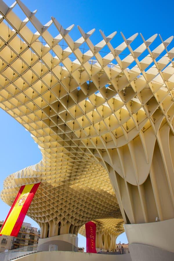 Metropol ett slags solskydd, Sevilla, Spanien arkivbilder