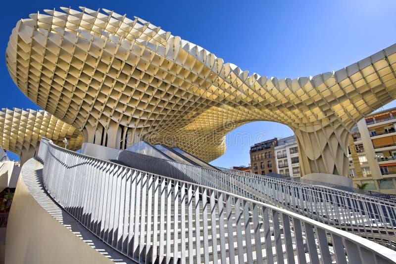 Metropol Parasol in Plaza de la Encarnacion on MAY 02, 2013 in Sevilla, Spain. J. Mayer H. architects royalty free stock image