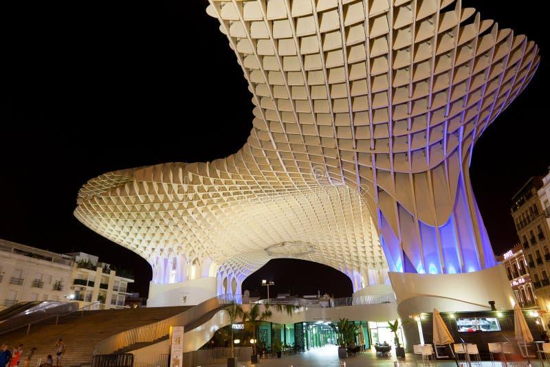 Metropol Parasol in Plaza de la Encarnacion stock photo